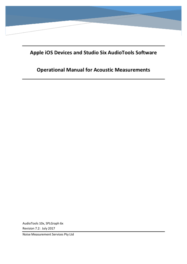 AudioTools Manual Rev 7.2 July 2017