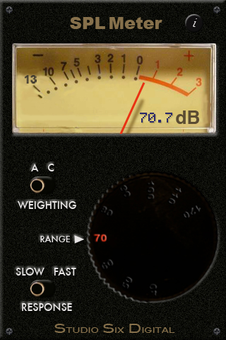SPL Meter iPhone app from Studio Six Digital